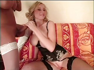 Girl slut with two trannies