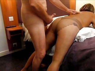 Guys cumming on my nylon clad ass..