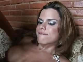 Shemale and guy fuck each other holes