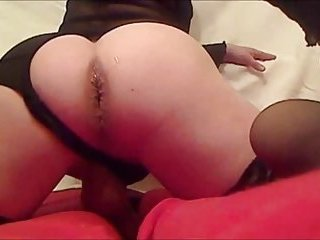 Transgender With Huge Dildo Plays