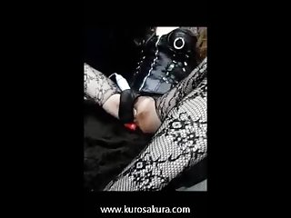 Tranny mistress masturbate with dildo and vibration