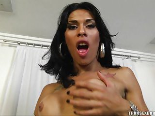 Titty Latina shemale gets her ass rammed