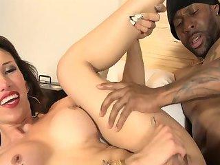 Black dude bangs tranny ass hole
