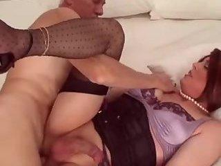 Shy crossdresser gets his ass penetration