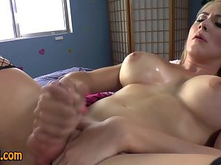 Tgirl blows her cum load