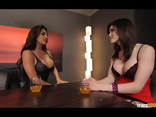 Gorgeous top shemales fuck each other